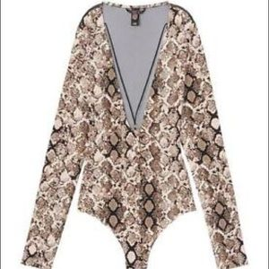Victoria's Secret snake print teddy Bodysuit